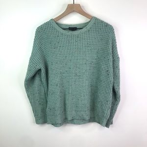 Topshop green chunky sweater size 6